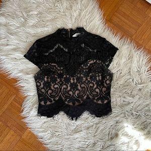 Black lace top size M